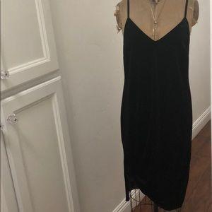 Sanctuary midi velvet black dress